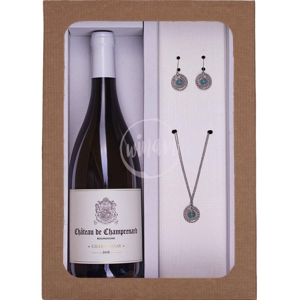 Dárkový set - Chardonnay a šperky