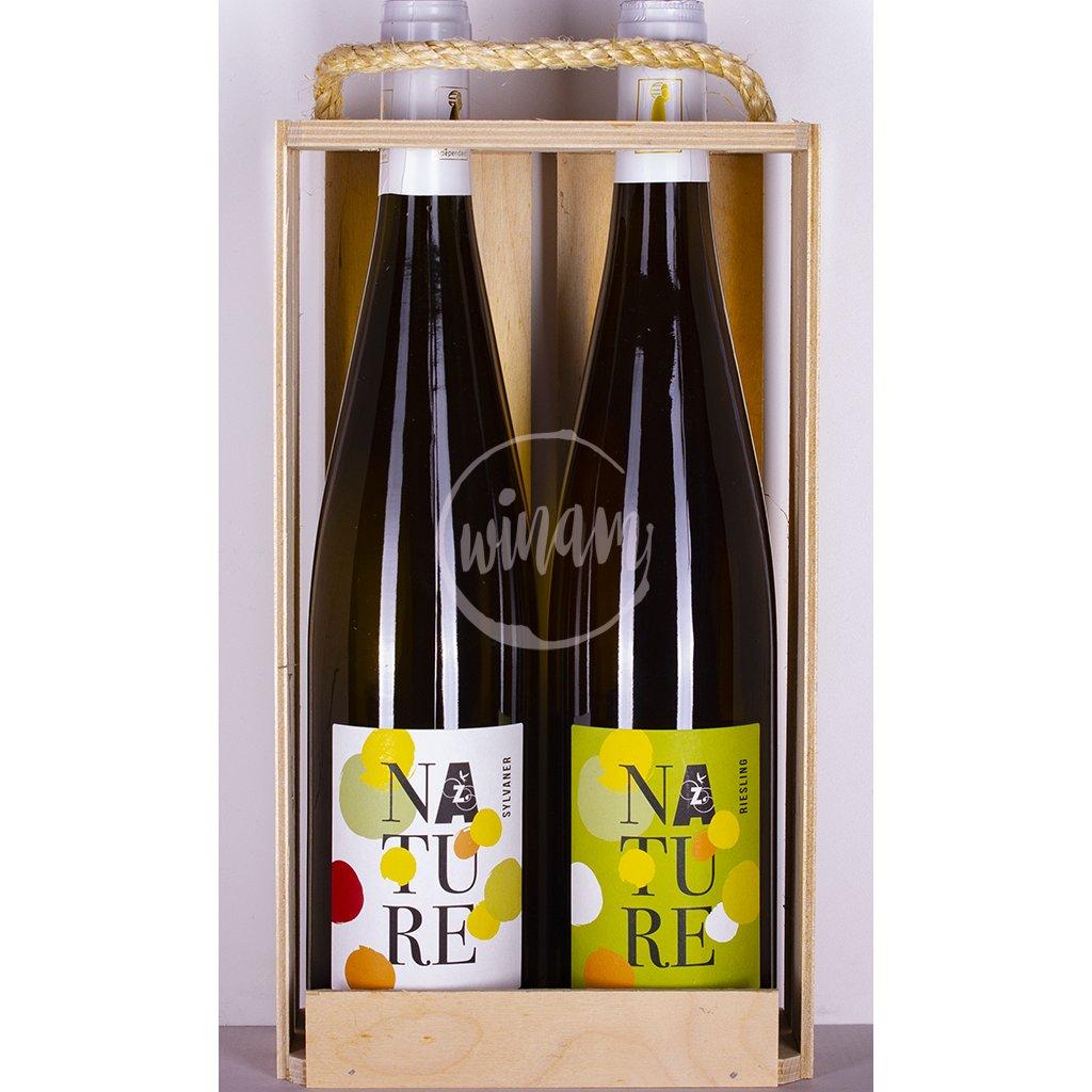 Duo přírodních vín z Alsaska jako dárek