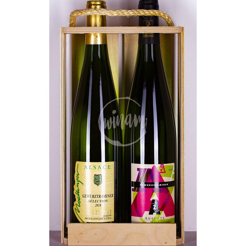 Dárkový set - polosladké víno z Alsaska