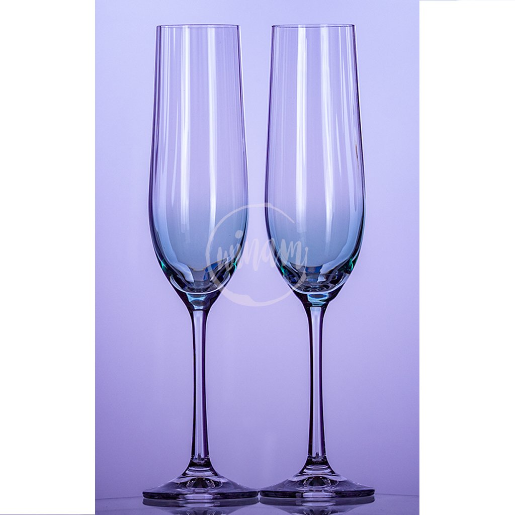 modré skleničky