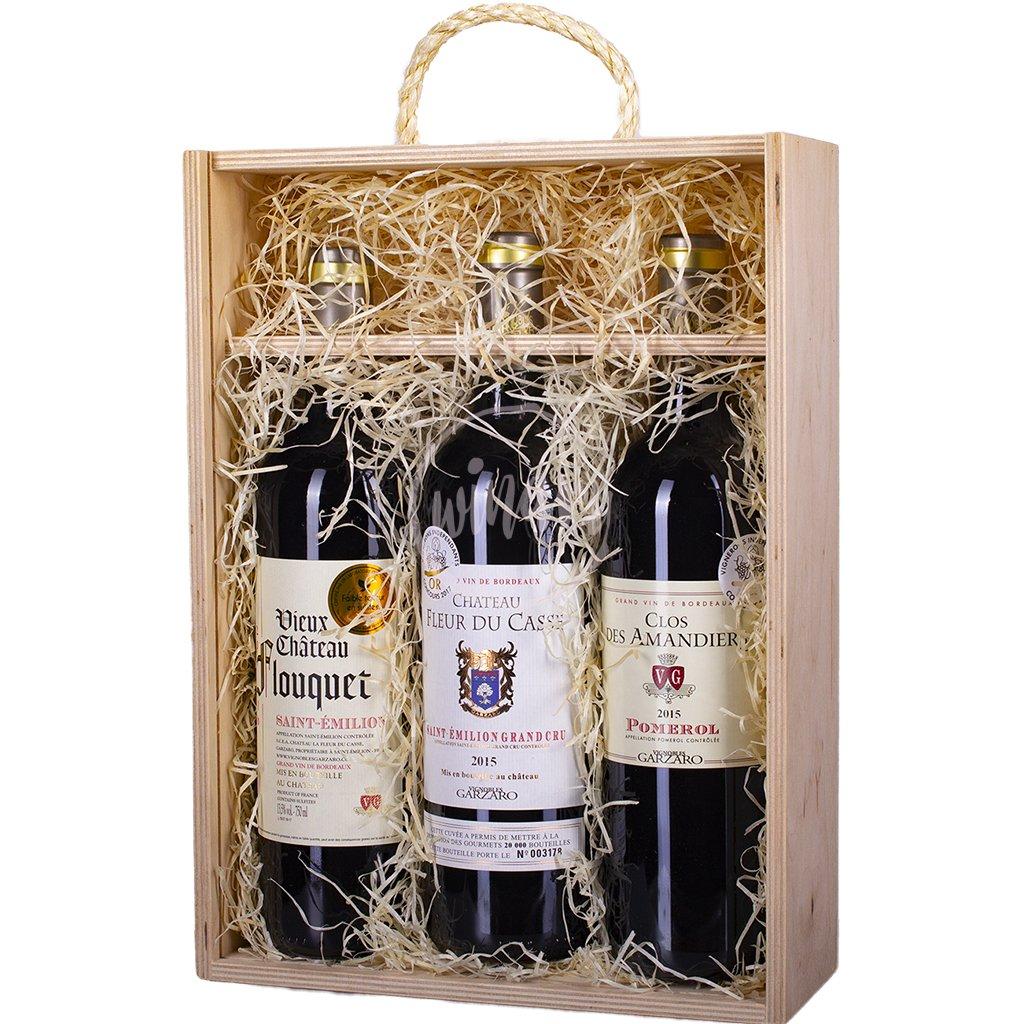 Trio luxusních vín z Bordeaux