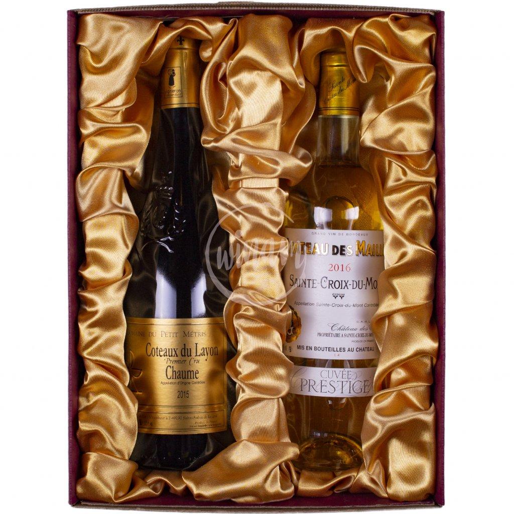 Exkluzivní dárková kazeta 2 sladkých vín