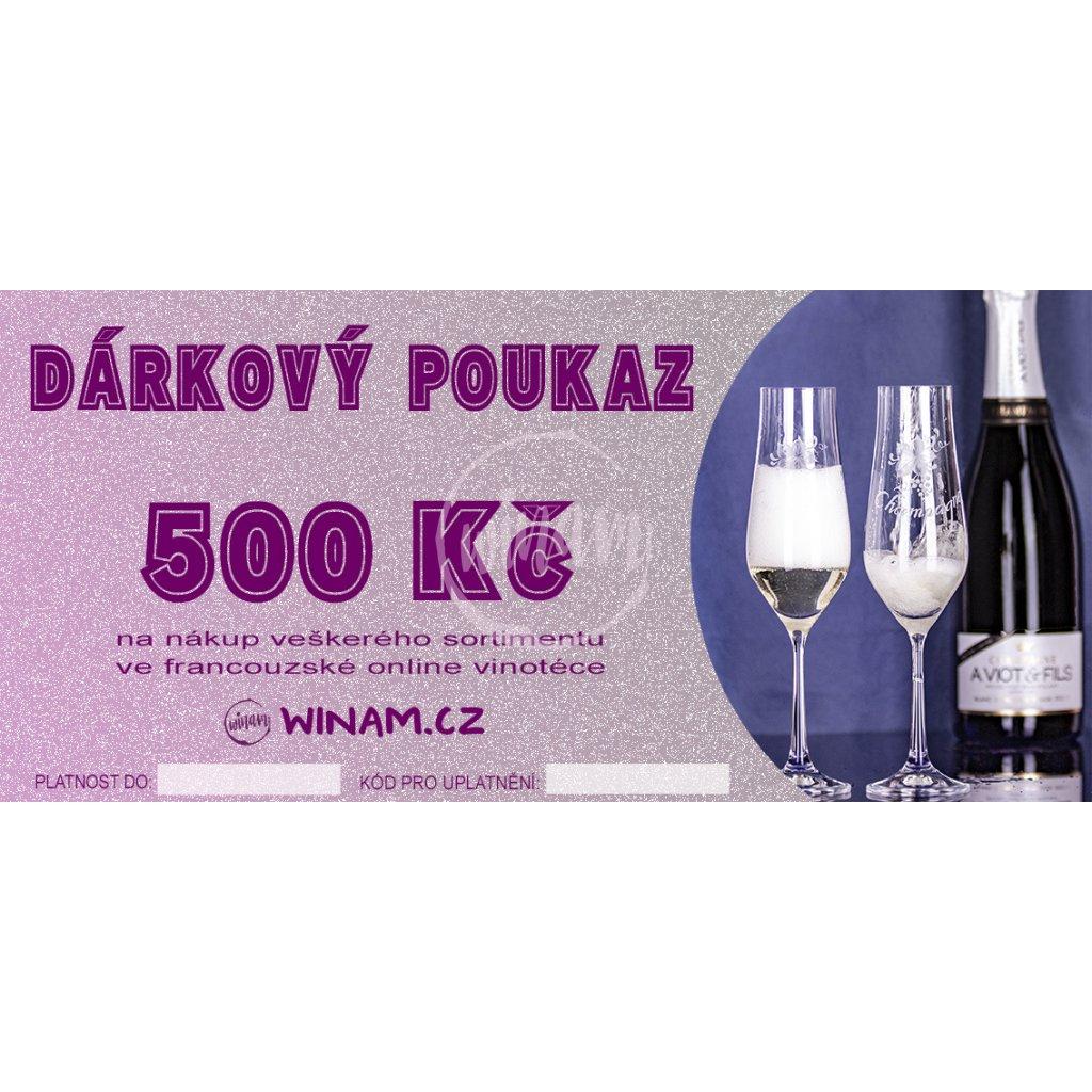 darkovy poukaz winam 500 kc