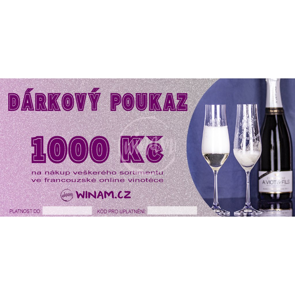 darkovy poukaz winam 1000 kc