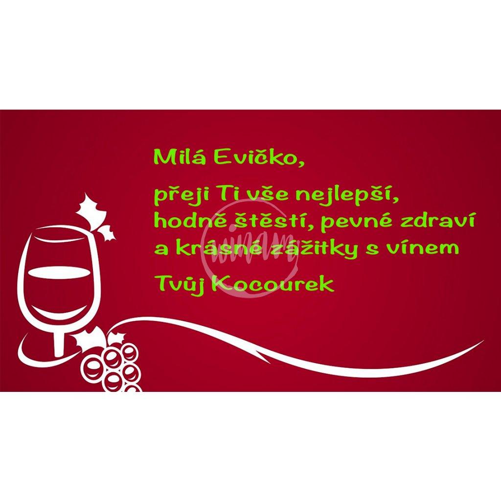Blahopřání Červené s vínem