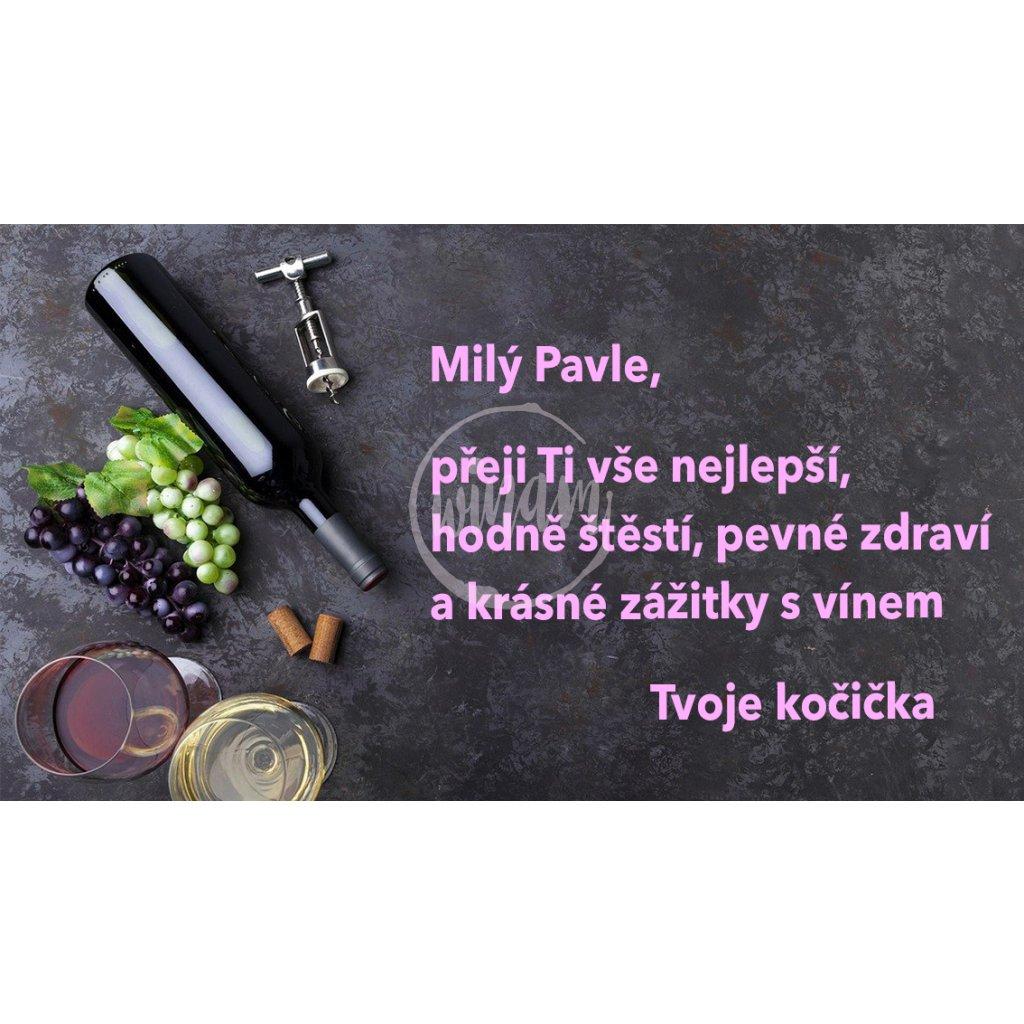 Blahopřání Dekorace s vínem