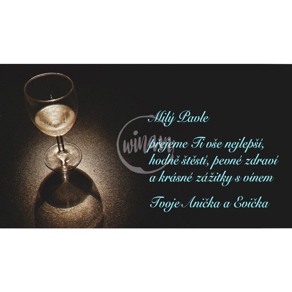 Blahopřání Sklenička vína