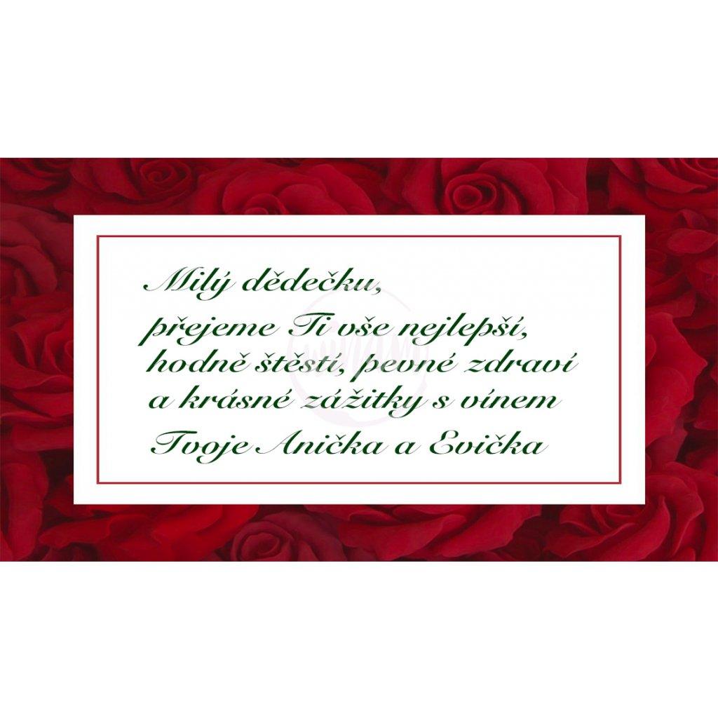 Blahopřání Rámeček z růží
