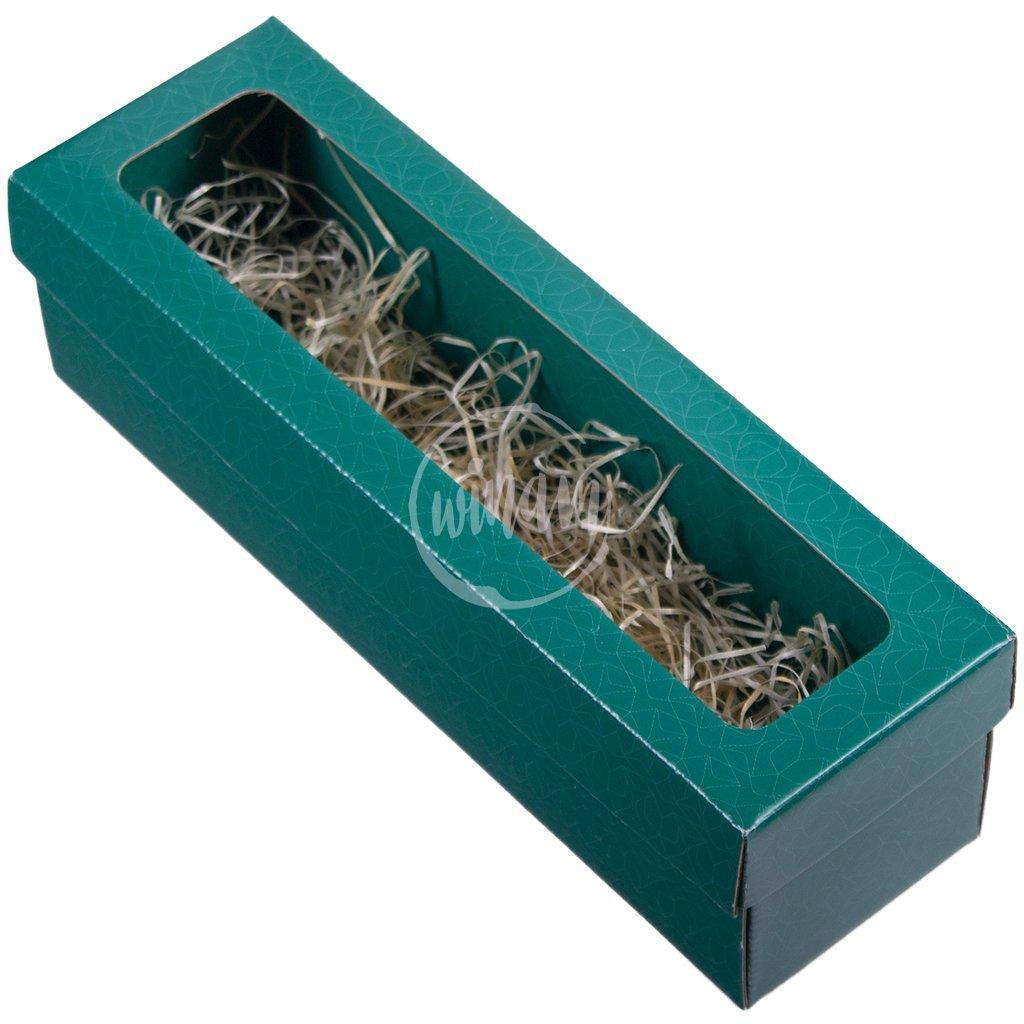 krabička na jedno víno zelená
