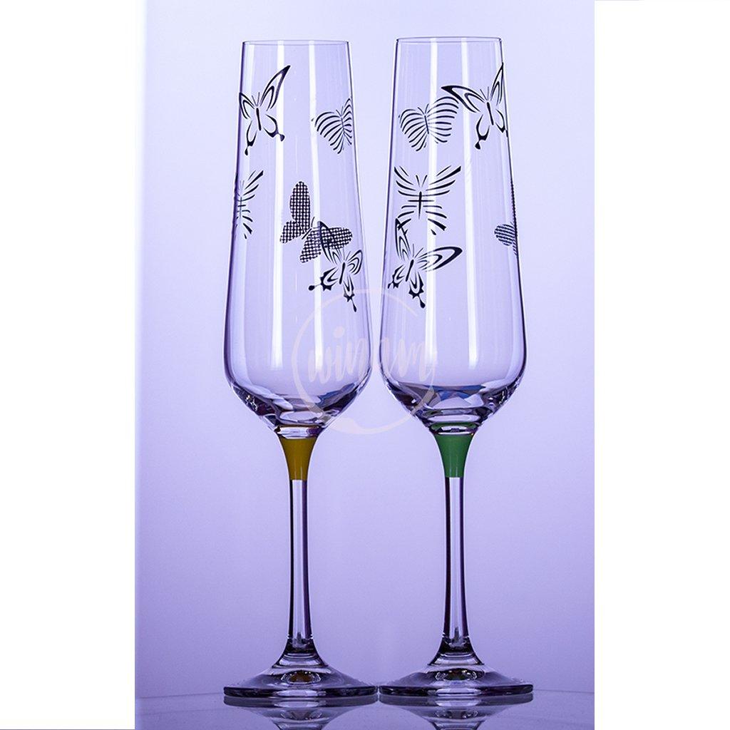 skleničky na šampaňské