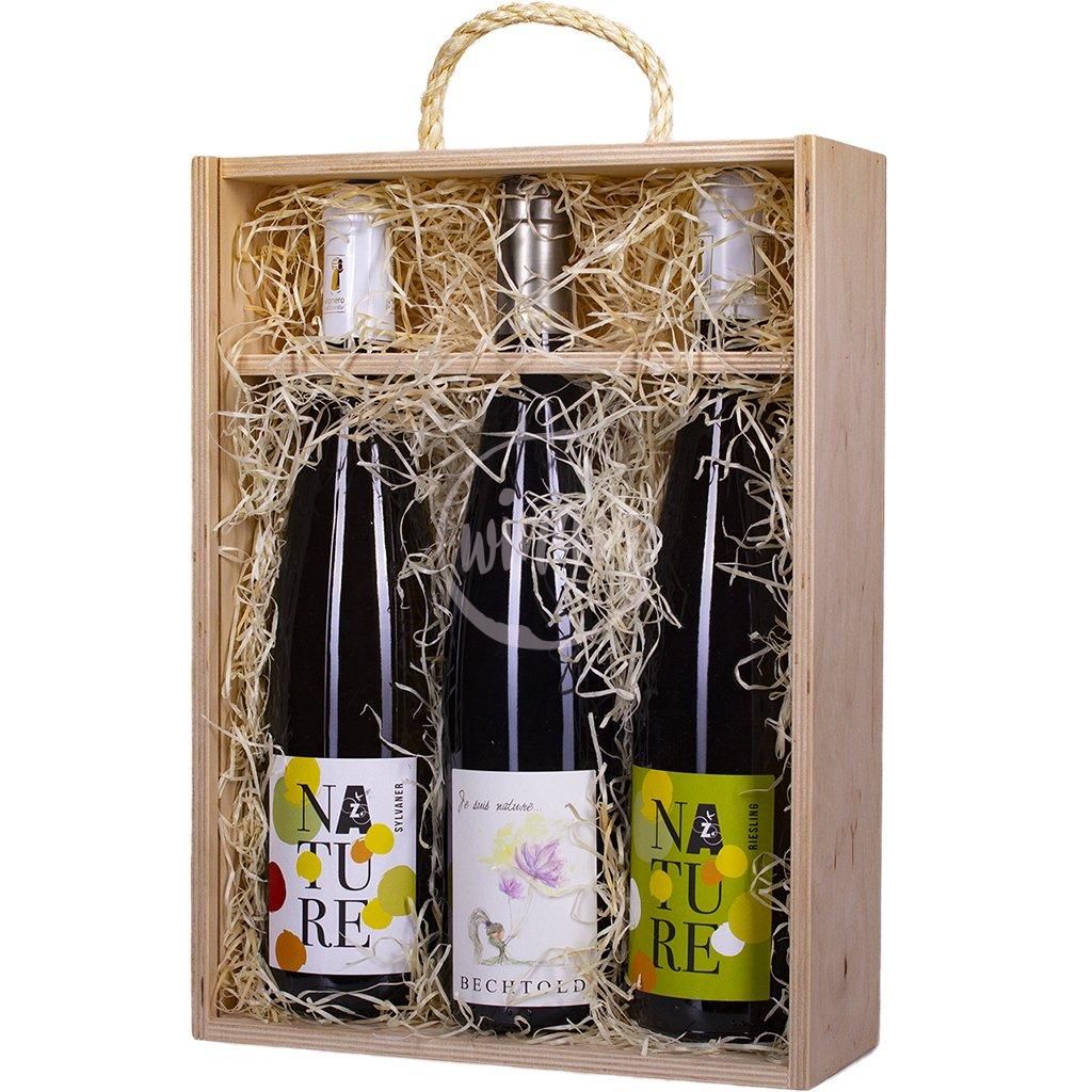 Trio přírodních vín z Alsaska