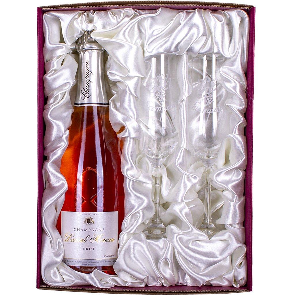 Luxusní kazeta s růžovým šampaňským