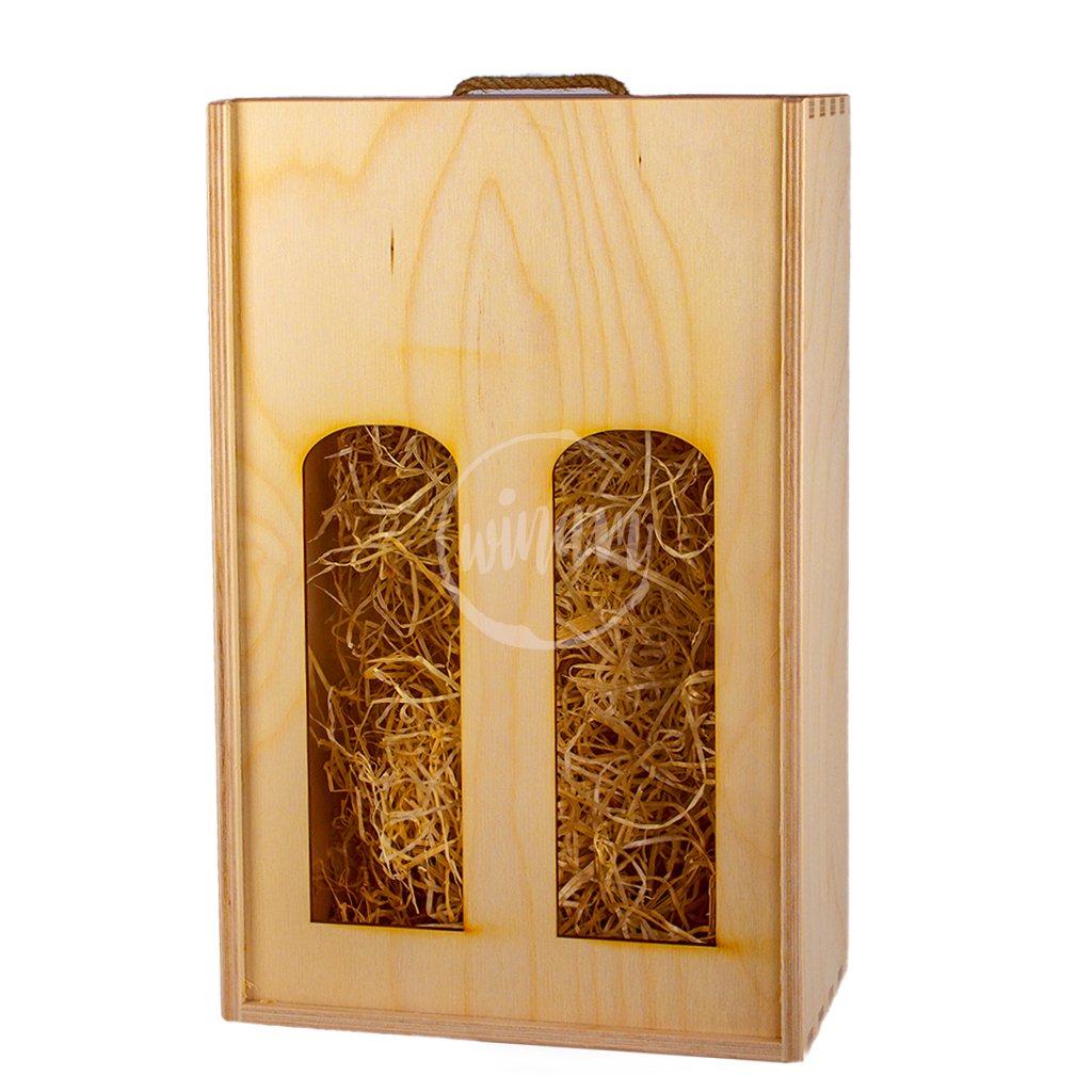Dřevěný box na 2 vína