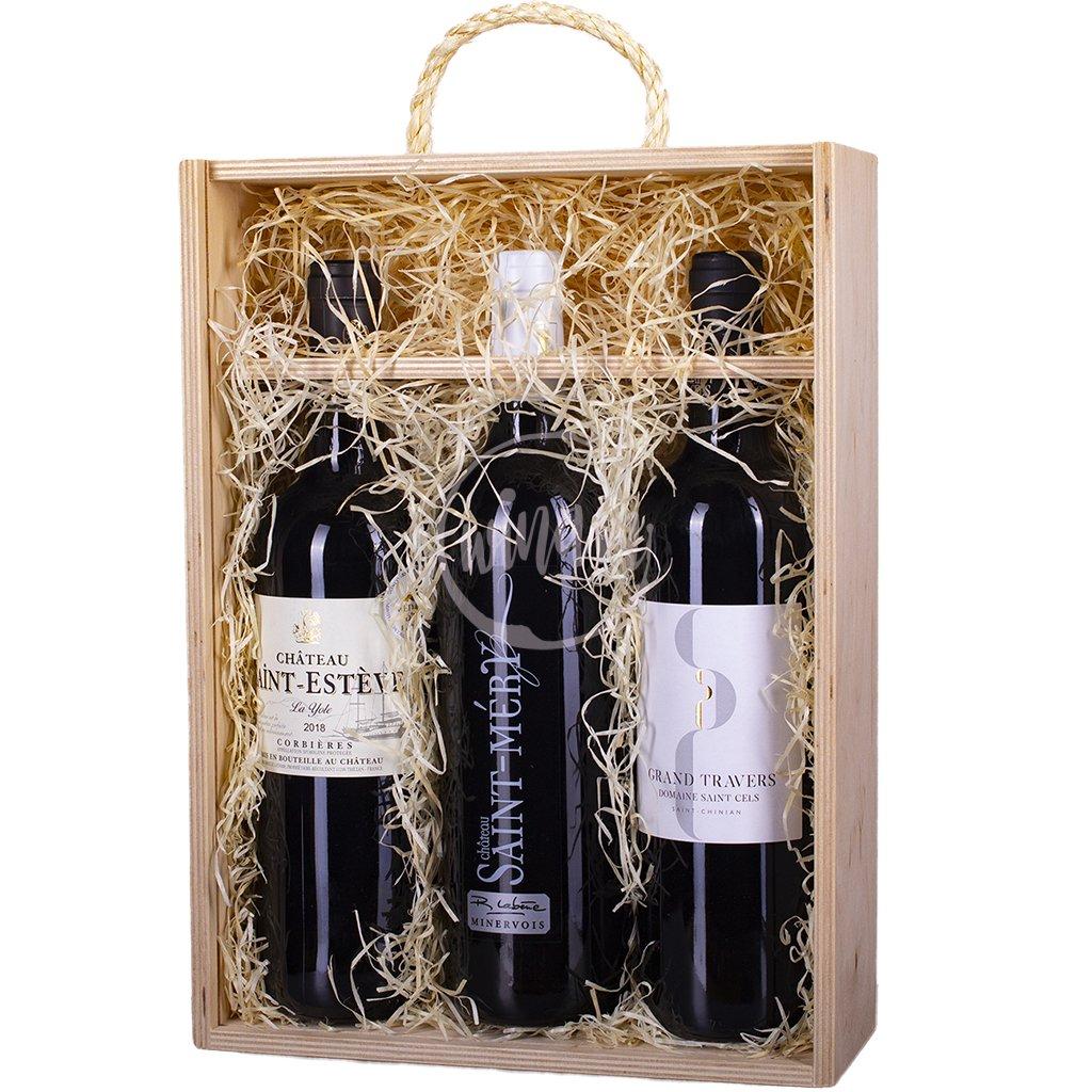 Trio červených vín z Languedocu