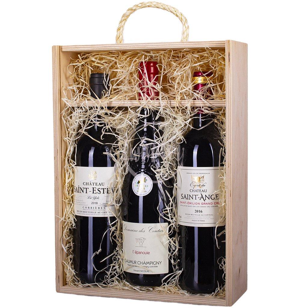 Trio červených vín z Francie