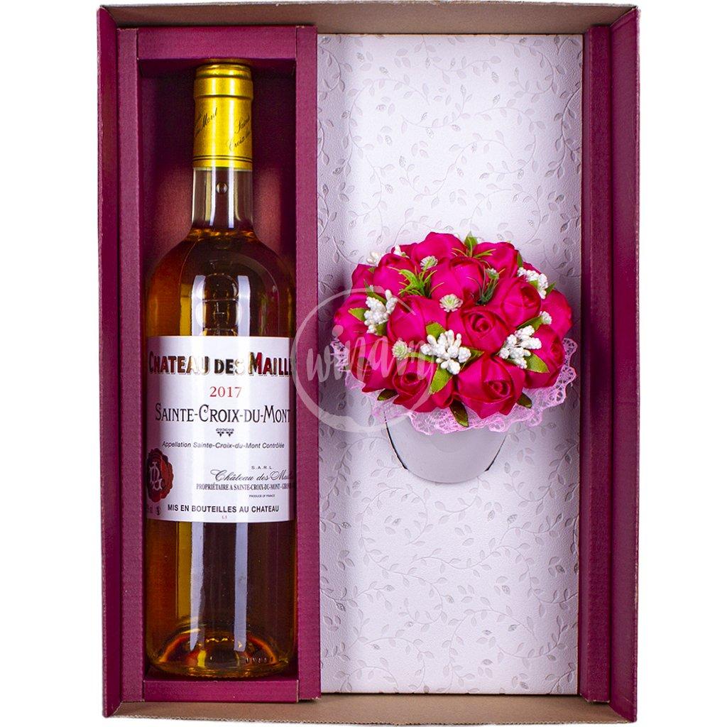 Sladké víno s kytičkou růží