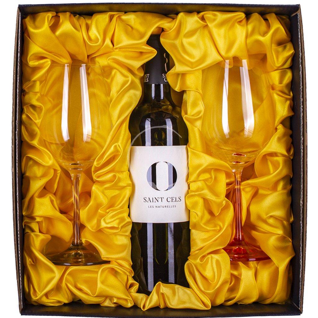 Přírodní víno v dárkové kazetě