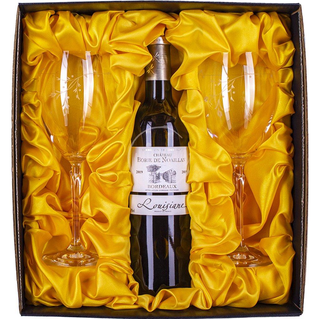 Luxusní dárkový set se skleničkami
