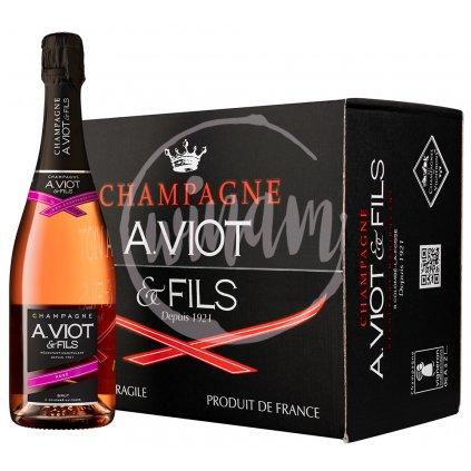 Růžové šampaňské - Champagne A.Viot