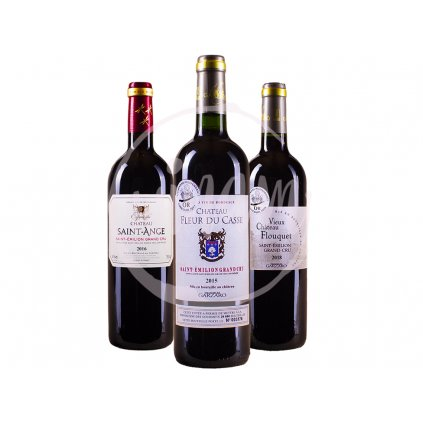 Trio vín Grand Cru Saint Emilion