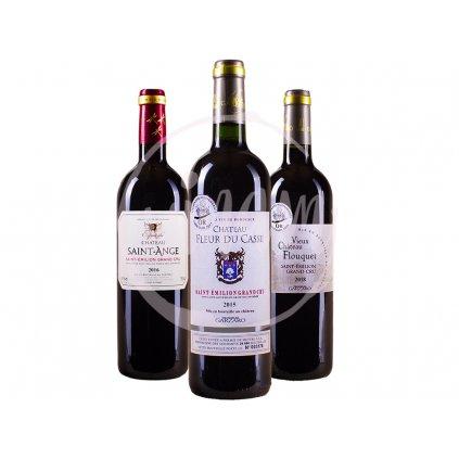 Trio vín Grand Cru Saint Emilion