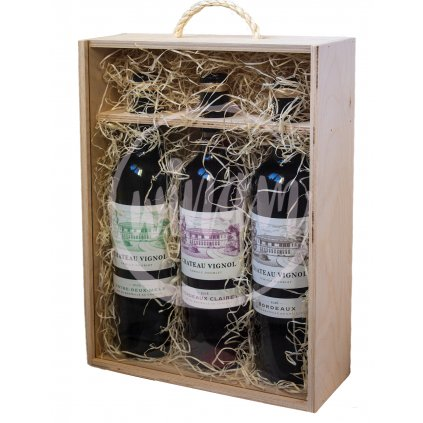 Víno jako dárek všechny barvy Bordeaux