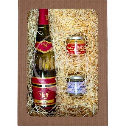 Dárková sada vín - Riesling + francouzské delikatesy