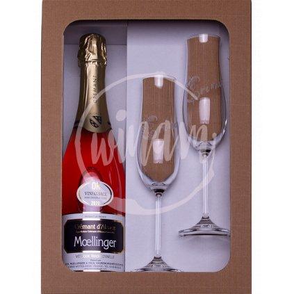Růžové šumivé víno jako dárek