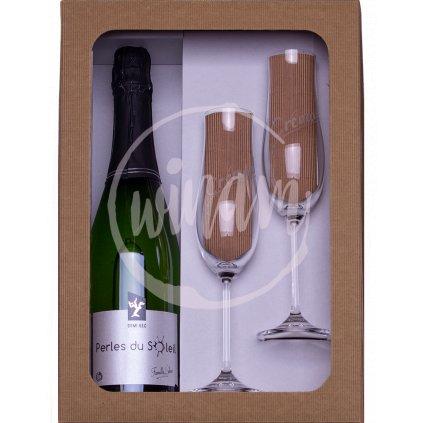 Polosuché šumivé víno z Loiry jako dárek