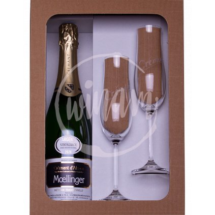 Šumivé víno z Alsaska jako dárek