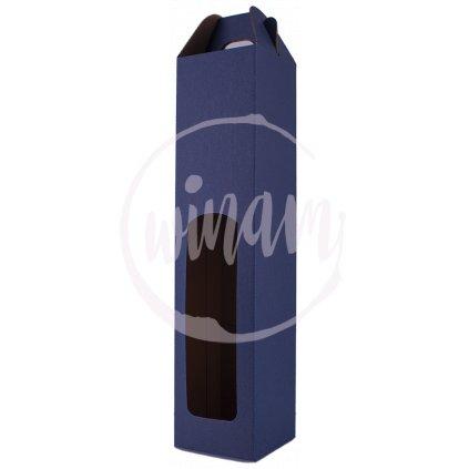 krabice na jedno vino modra