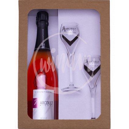 Růžové šampaňské jako dárek