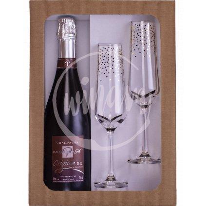 """Exkluzivní šampaňské """"vielles vignes"""" v dárkovém setu"""