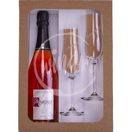 Dárková sada - růžové šampaňské