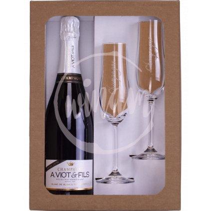 Exkluzivní šampaňské v dárkové sadě