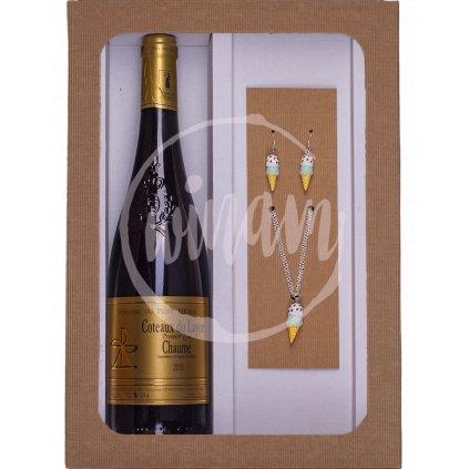 Dárková sada - víno a šperky