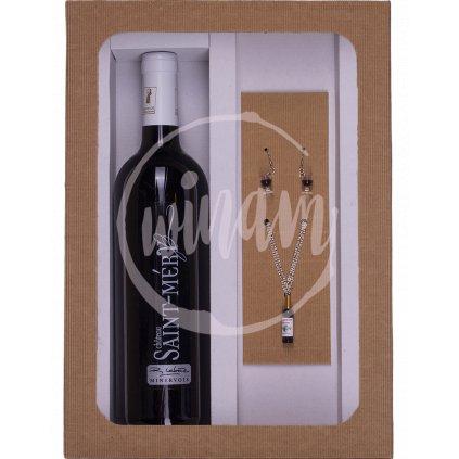 Dárkové balení vína se šperky