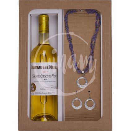 Dárkové sladké víno se šperky
