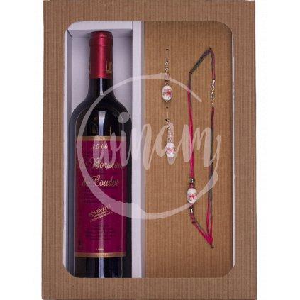 Dárkové víno - červené cuvée se šperky