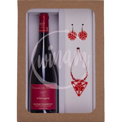 Luxusní dárková sada - víno a šperky