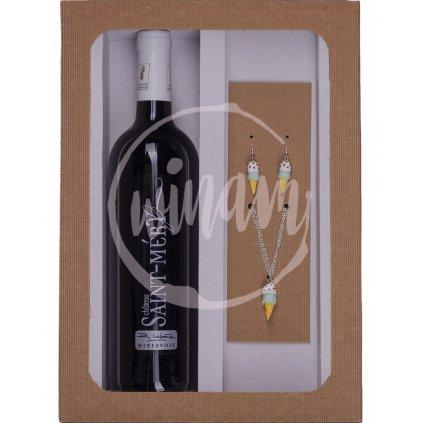 Dárkové víno se šperky - zmrzliny
