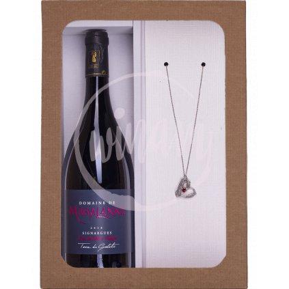 Dárkové balení - víno a šperk