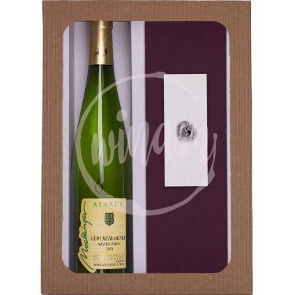 Dárková sada víno a brož pro ženy