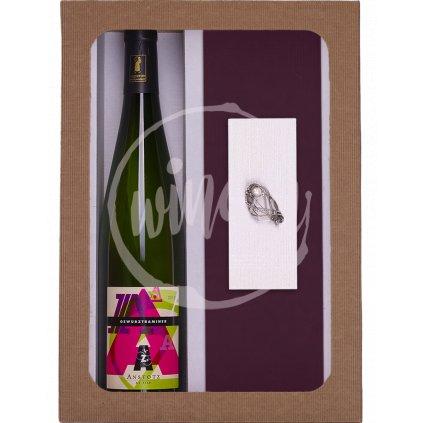 Dárkový set víno s broží