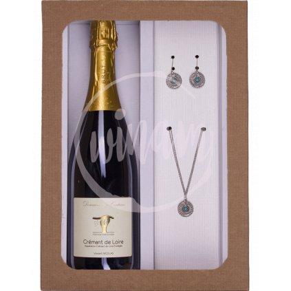 Dárkový set - víno a šperky pro ženy