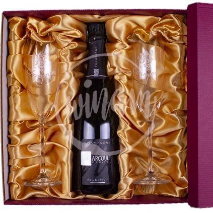 Luxusní dárková kazeta s šampaňským