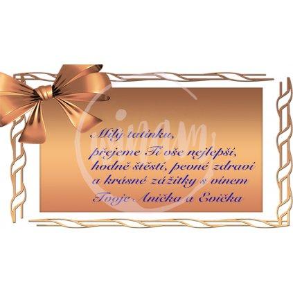 Blahopřání Zlatá stuha