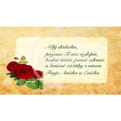 Blahopřání s růžemi