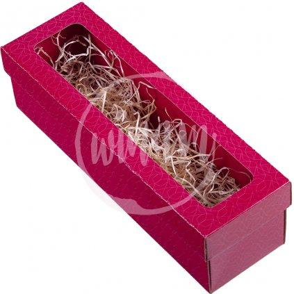 krabička červená na jedno víno zavřená