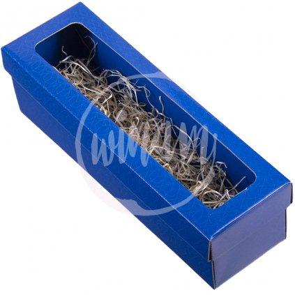krabička na jedno víno modrá